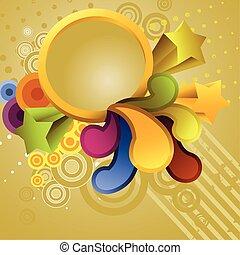 abstraktní, kruh, grafické pozadí