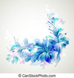 abstraktní, květ