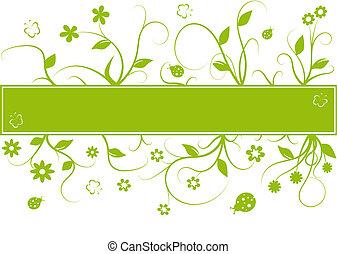 abstraktní, květinový, grafické pozadí