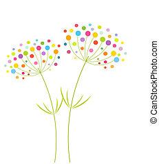 abstraktní, květiny