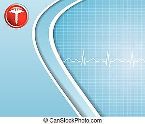 abstraktní, lékařský, grafické pozadí