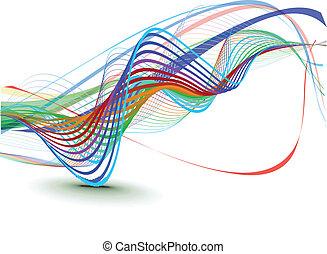 abstraktní, mávnutí, grafické pozadí, komponování