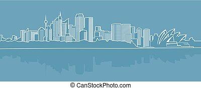 abstraktní, město, dále, jeden, konzervativní, background..eps