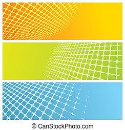 abstraktní, mříž, standarta