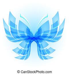 abstraktní, motýl