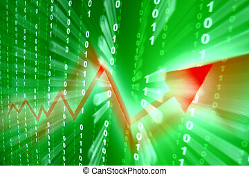 abstraktní, nárůst, investice