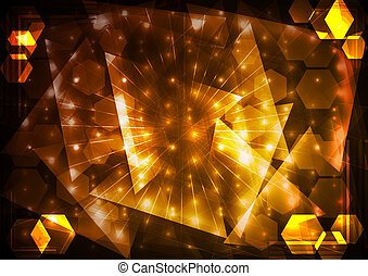 abstraktní, osvětlení, grafické pozadí