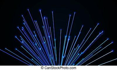 abstraktní, překlad, optický, grafické pozadí, fibers., 3