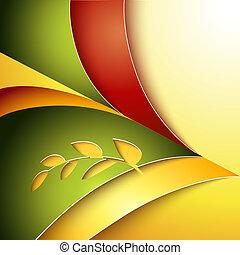 abstraktní, podzim, grafické pozadí