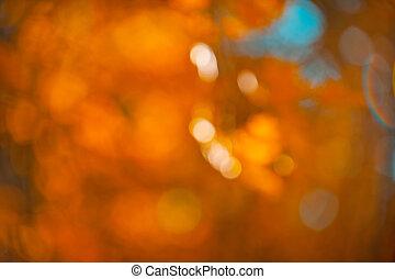 abstraktní, pomeranč, bokeh, bezvadný, podzim, grafické pozadí