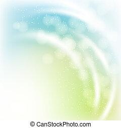 abstraktní, pramen, grafické pozadí, s, lehký, rayes, a, bokeh