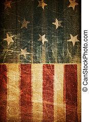 abstraktní, prapor, americký, grafické pozadí, vlastenecký, theme), (based