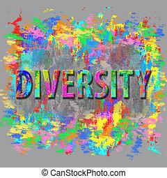 abstraktní, rozmanitost, concept.
