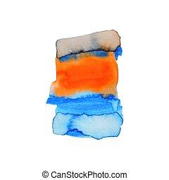 abstraktní, rukopis, barva, barva vodová, grafické pozadí, ilustrace, poskvrnit, vodové barvy, barvy, dále, deštivý, paper., barva vodová, komponování, použitý, jako, kniha k nalepování výstřižků, základy, nebo, kopie, design, pavučina, charakterizovat