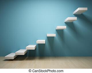 abstraktní, schod