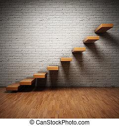 abstraktní, schody