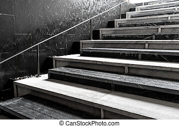 abstraktní, schody, schod