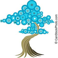 abstraktní, strom, ilustrace