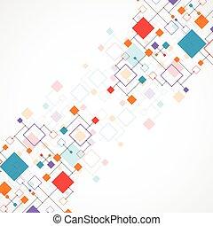 abstraktní, technika, grafické pozadí