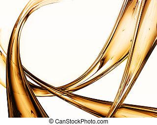 abstraktní, tekutý gold