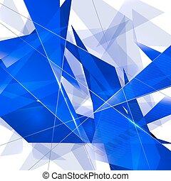 abstraktní, trojúhelník, grafické pozadí.