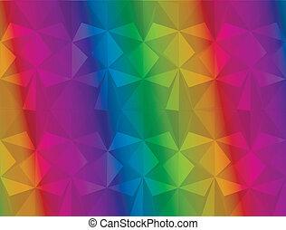 abstraktní, trojúhelník, grafické pozadí