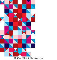 abstraktní, trojúhelník, trikolóra