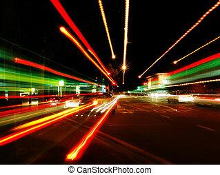 abstraktní, ulice, rozmazat