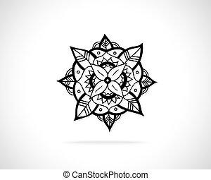 abstraktní, vektor, emblém, design, šablona