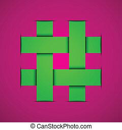 abstraktní, vektor, emblém