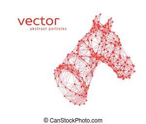 abstraktní, vektor, ilustrace, o, kůň, head.