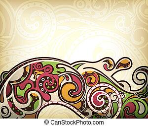 abstraktní, za, křivka