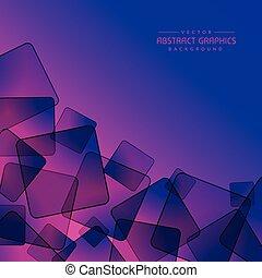 abstraktní, zbarvit nachově grafické pozadí, s, čtverec, tvořit