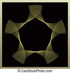 Abstrat star shape on black background