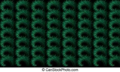 abstratct rotation green pattern