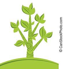 abstrato verde, árvore