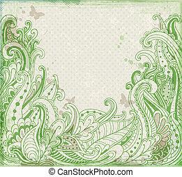abstrato verde, floral, fundo