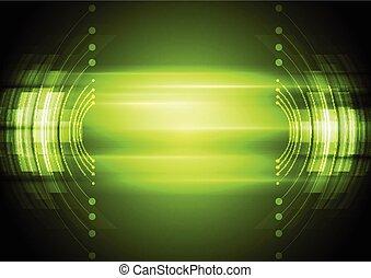abstrato verde, tecnologia, fundo