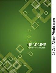 abstrato verde, vetorial, tech, fundo