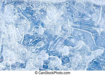 abstratos, água congelada, fundo