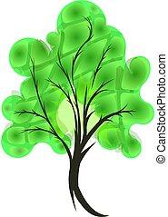 abstratos, árvore., eps10
