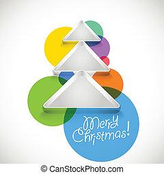 abstratos, árvore natal, de, cor, baubles