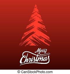 abstratos, árvore, natal, feliz