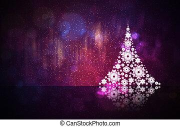 abstratos, árvore, natal