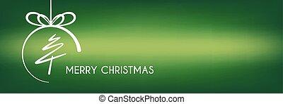 abstratos, árvore, natal, verde, feliz, círculo, bandeira, linha