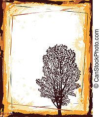abstratos, árvore, quadro