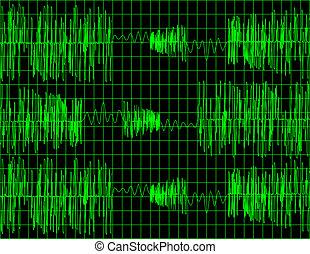 abstratos, áudio, onda, forma, fundo