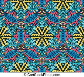 abstratos, étnico, ornamento, tribal, geométrico