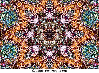 abstratos, étnico, pattern., caleidoscópio