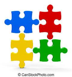 abstratos, ícone, quebra-cabeça, #4